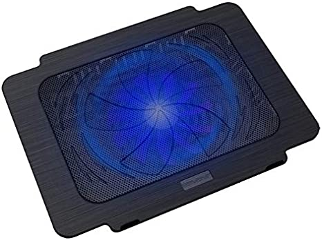 "Laptop Cooling Pad For 10\/""  15\/"" Computers Portable 2 Quit USB LED Cooler Fans"