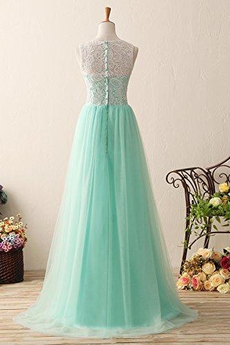 Abschlussball Tüll Koral und KekeHouse® Damen Kleid für Mädchen Spitze Abendkleid Lang Kleid AwnOFXq1n