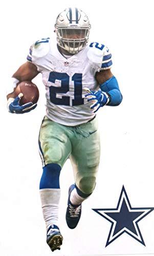 FATHEAD Ezekiel Elliott Mini Graphic + Dallas Cowboys Logo Official NFL Vinyl Wall Graphics 7