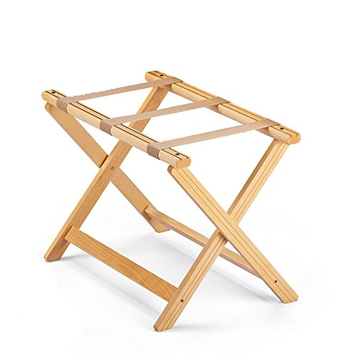 BAGAGE - Folding Luggage Rack in Solid Wood - Handcrafted in Italy - Natural Finish by ARIS - TRULY MADE IN ITALY