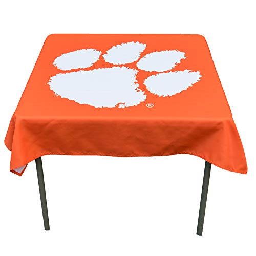 (College Flags and Banners Co. Clemson Tigers Logo Tablecloth or Table Overlay)