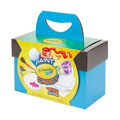 Crayola Paint Caddy, Washable Paints & Painting Supplies, Craft Kit, 75 Pieces, Gift for Kids