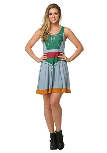 Star Wars Boba Fett A-Line Dress 2X - Boba Fett Dress