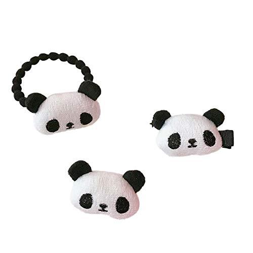 3pcs Adorable Lindo Panda Pelo Clip Broche De Pelo De La Corbata ...