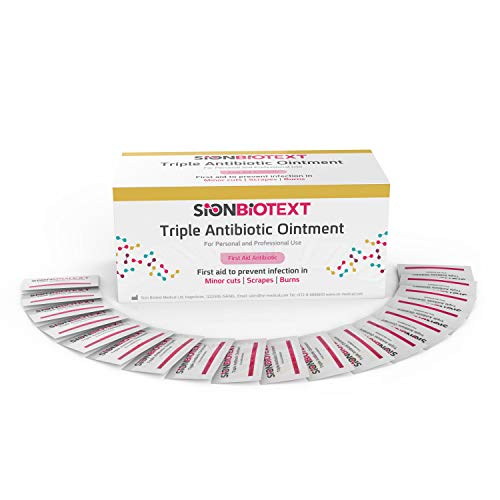 Triple Antibiotic Ointment Maximum Strength Skin Care by Sion Medical. Extra Large Pack Antibacterial Cream in Individual Packets for Cuts, Scrapes, Burns 0.031 oz (0.9g) 144 in Box - First Aid to Go! (Best Generic Diapers 2019)