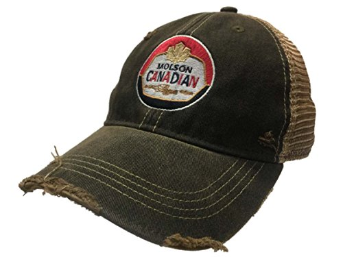 Molson Canadian Beer Brewing Company Retro Brand Vintage Mesh Adjustable Hat Cap (Canadian Lager)