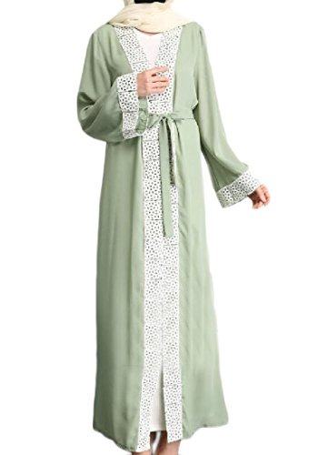 Dress Coolred Abaya Sleeve Women Cardigan Long Green Longline Arab Muslim rBOxBI