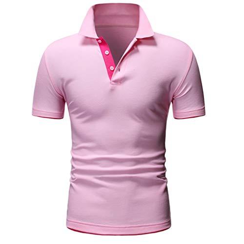 Mote Mens Clothes, MensFashion Letter Printing Shirt Short Sleeve Casual T-Shirt Blouse Tops T-Shirt Pink - Guess Striped Blazer