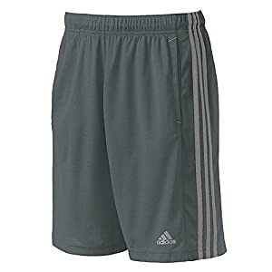 adidas Men's Essentials 3-Stripe Shorts, Bold Onix/Grey, XX-Large Tall