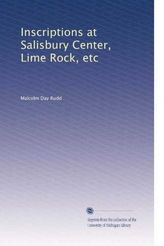 Inscriptions at Salisbury Center, Lime Rock, - Salisbury Centre The At