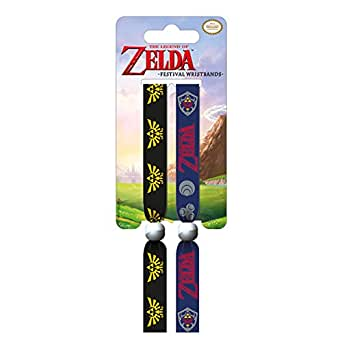 The Legend Of Zelda Wristband Classic Logo Crest Official Fabric Festival