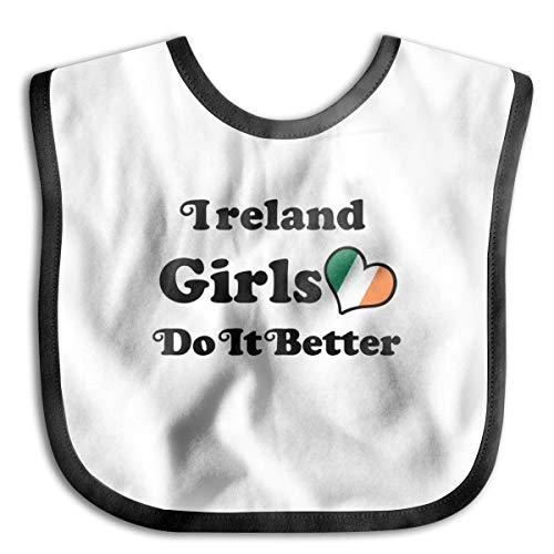 Ireland Girl Do It Better Baby Drool Bibs Baby Skin Wrap Bib Soft Unisex