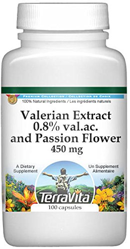 Valerian Extract 0.8% val.ac. and Passion Flower - 450 mg (100 capsules, ZIN: 511272) - 2 Pack