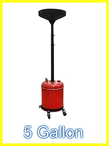 Rolling Oil Drain (Portable Waste Oil Drain Change Tank Rolling Dolly Adjustable Lift Funnel - House Deals)