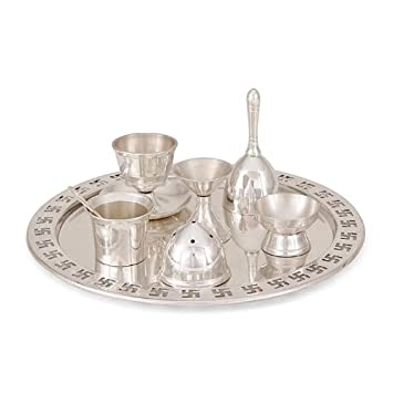 Buy R.K.Metal Industries Pvt.Ltd. AG Puja Thali Brass Metal Made With Silver Plated Online at Low Prices in India - Amazon.in  sc 1 st  Amazon.in & Buy R.K.Metal Industries Pvt.Ltd. AG Puja Thali Brass Metal Made ...