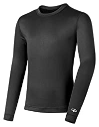 Duofold by Champion Varitherm Mid-Weight 2-Layer Boys\' Thermal Shirt_Black_M