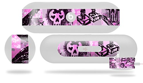 Scene Kid Sketches Pink Decal Style Skin - fits Beats Pill Plus (BEATS PILL NOT INCLUDED) by WraptorSkinz