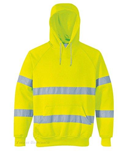 Hoodie Fermeture Visibilité Pro tect Haute À ® Capuche Yellow Sweat Éclair Nonzip nIvq4vrB