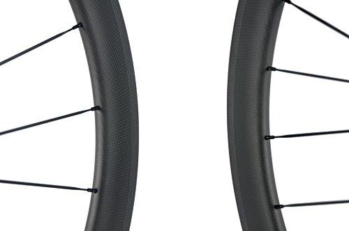Superteam Carbon Fiber Clincher Road Bike Wheelset 700C25 Matt Finish 1 Pair by Queen Bike (Image #4)