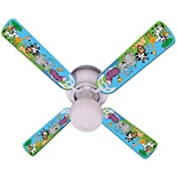 Ceiling Fan Designers Ceiling Fan, Jungle Party Animals, 42