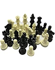 EmNarsissus Medeltida schackpjäser/plast kompletta schackspel internationell schackspel underhållning svart och vit