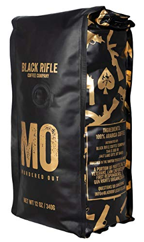 Black Rifle Coffee Company Murdered Out Coffee Dark Roast Whole Bean, 12 Ounce Bag