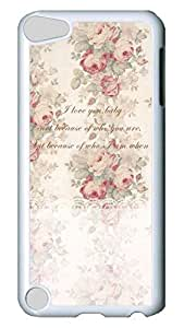 Brian114 Case, iPod Touch 5 Case, iPod Touch 5th Case Cover, Beauty Of The Flower Retro Protective Hard PC Back Case for iPod Touch 5 ( white )