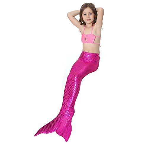 Bagno Per Con Rose Saianke Nuotare Monopinna Da Di Pink Scintillante Coda Top Sirena With Ww00BpfFq