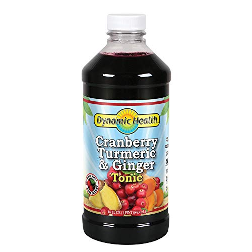 (Dynamic Health Cranberry Turmeric and Ginger Tonic Supplement, 16 Ounce)