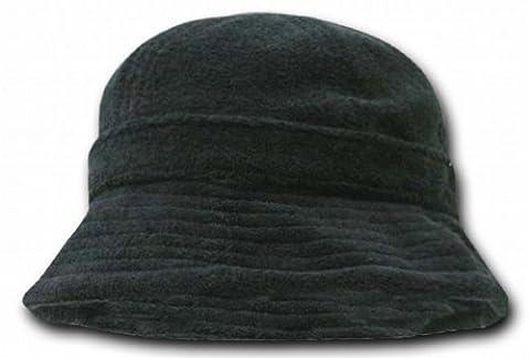 DECKY Terry Bucket Hats, Black - Boonie Hat Terry Hat