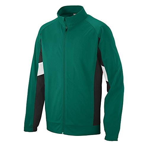 - Augusta Sportswear Men's Tour De Force Jacket L Dark Green/Black/White