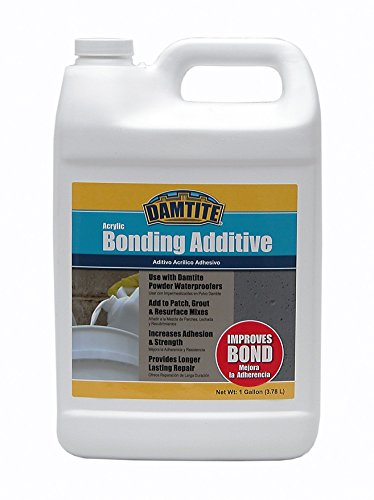Damtite 05370 Clear Acrylic Bonding Additive, 1 gal Bottle (Concrete Bonding Additive)