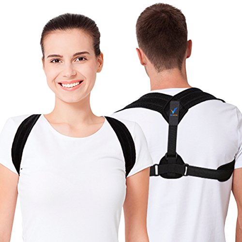 Back Posture Corrector for Women and Men by Verback - Effective Back Straightener for Shoulder Support – Comfortable Clavicle Brace to Discreetly Use Everywhere by Verback