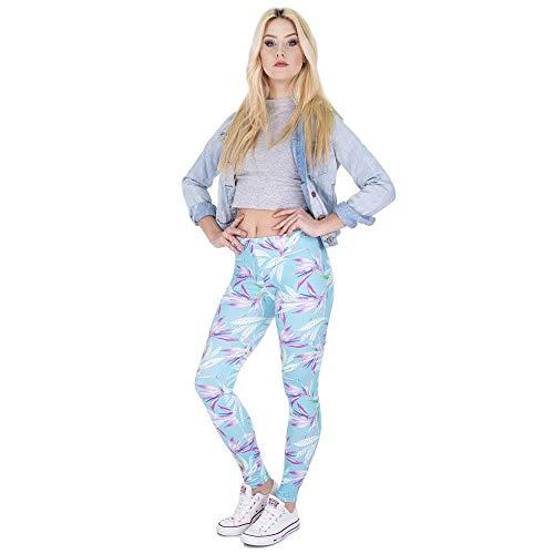 Casuales Betrothales Impresiones Cintura Lga44018 Elástica En Color Pantalones Yoga Delgados Leggings Con Elegantes Chándal Mujeres Único De Estilo Elásticos SprxS