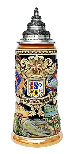 LE Australia German Beer Stein 1L Made in Germany New