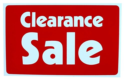 1-Pc Superior Popular Clearance Sale Sign Promotion Plastic Decal Retail Cards Size 7