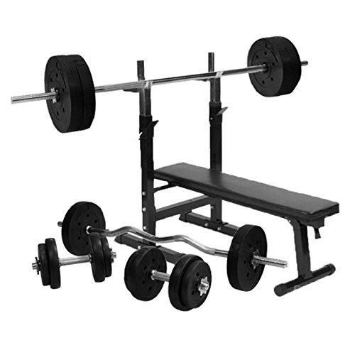 Gorilla Sports Hantelbank Set 100 kg bei amazon kaufen
