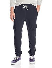 Southpole Men's Active Basic Fleece Jogger Pant with Cargo Pockets