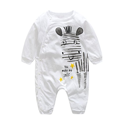 Weixinbuy Toddler Baby Boys Girls Animal Printed Rompers Footie Outfit