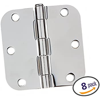 Dynasty Hardware 3-1/2  Door Hinges 5/8  Radius Corner  sc 1 st  Amazon.com : chrome door hinges - pezcame.com