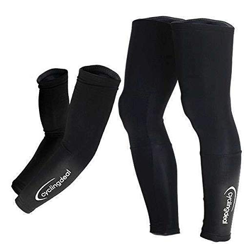 Cycling Bicycle Bike Running Golf Arm & Leg Warmers Size ()