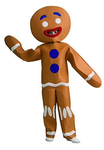 [Shrek Child's Costume And Mask, Gingerbread Man Costume-Medium] (Childrens Food Halloween Costumes)