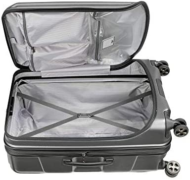 DELSEY Paris Cruise Lite Hardside 2.0 Expandable Luggage, Spinner Wheels, Platinum, Checked-Medium 25 Inch