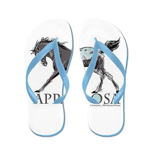 Cafepress Appaloosahäst - Flip Flops, Roliga Rem Sandaler, Strand Sandaler Caribbean Blue