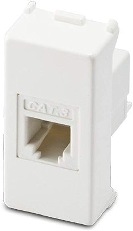 3 Presa Telefonica compatibile per GEWISS SYSTEM BIANCA RJ11 CAT