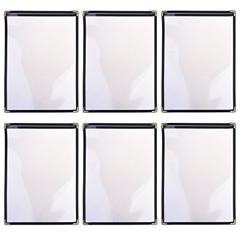 - COSMOS Single Panel Transparent Restaurant Menu Covers for A4 Size Paper, Pack of 6