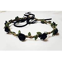 Boho Halloween headband crowns black and orange hairband, floral headband, flower crown, hair crown, fairy Crown, hippie, gypsy, witch,