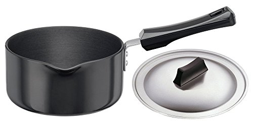 Futura Hard Anodised Sauce Pan 1-1/2-Litre with Steel Lid and Pouring Spout