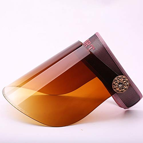 women girls summer sun hat cap uv sun men's summer covering her face riding electric car (embroidery red skin (goggle mirror coffee)