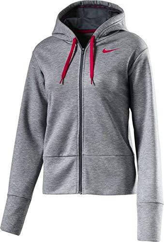 Nike Womens Dry Training Zip Hoodie Gray L - Full Hoody Zip Rush
